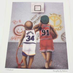 Vintage Barkley & Rodman as Kids Picture